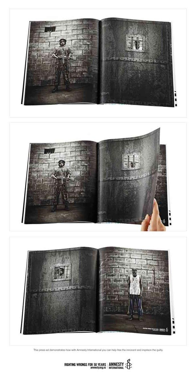 Amnesty International Print Ad -  Free the innocent and imprison the guilty