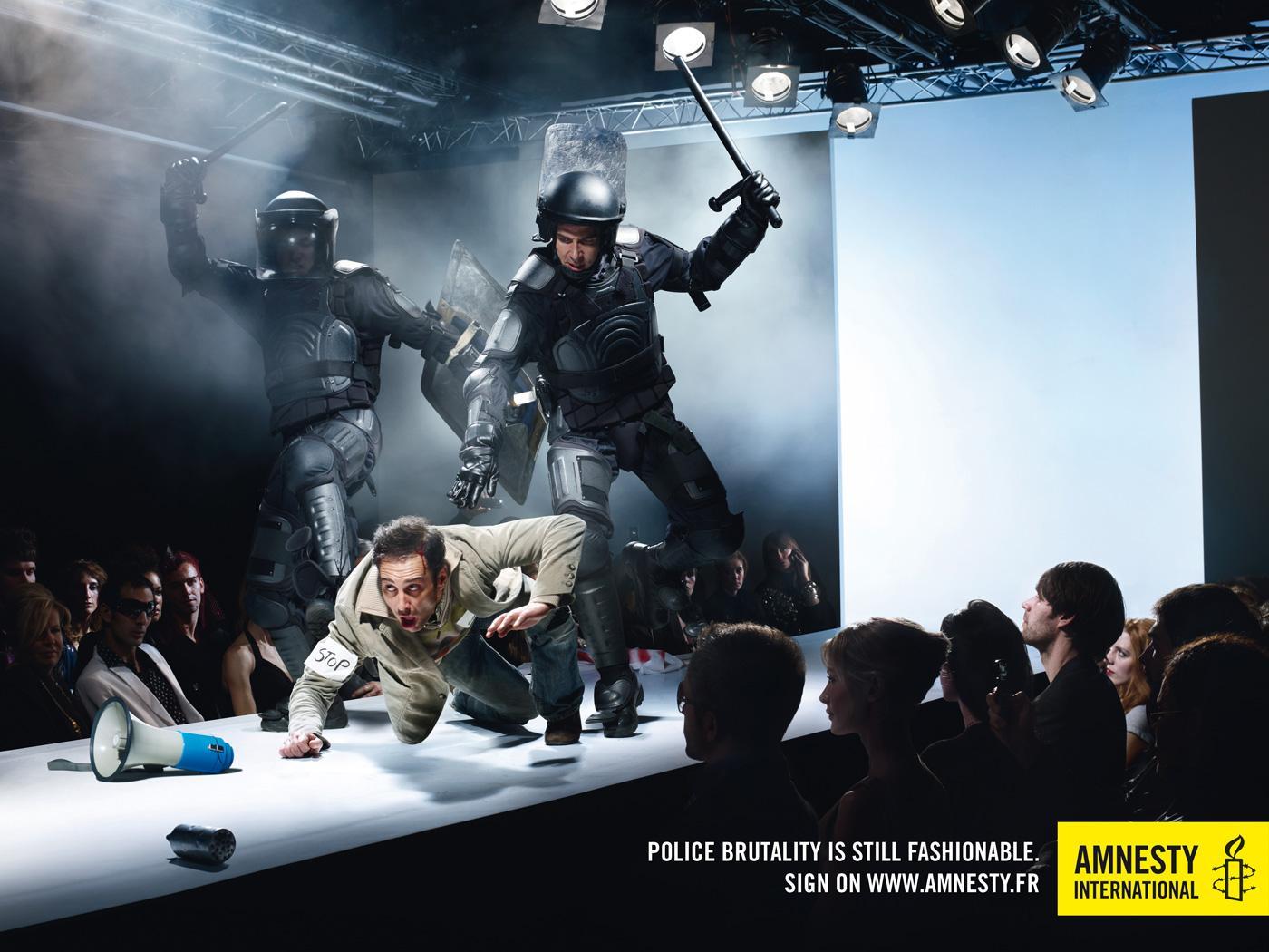 Amnesty International Print Ad -  Fashion, Police