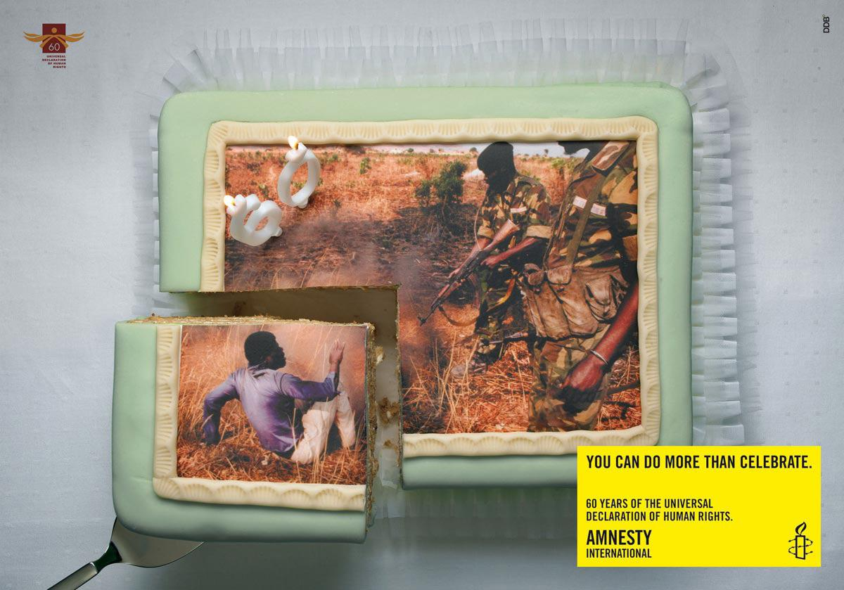 Amnesty International Print Ad -  Cake, 2