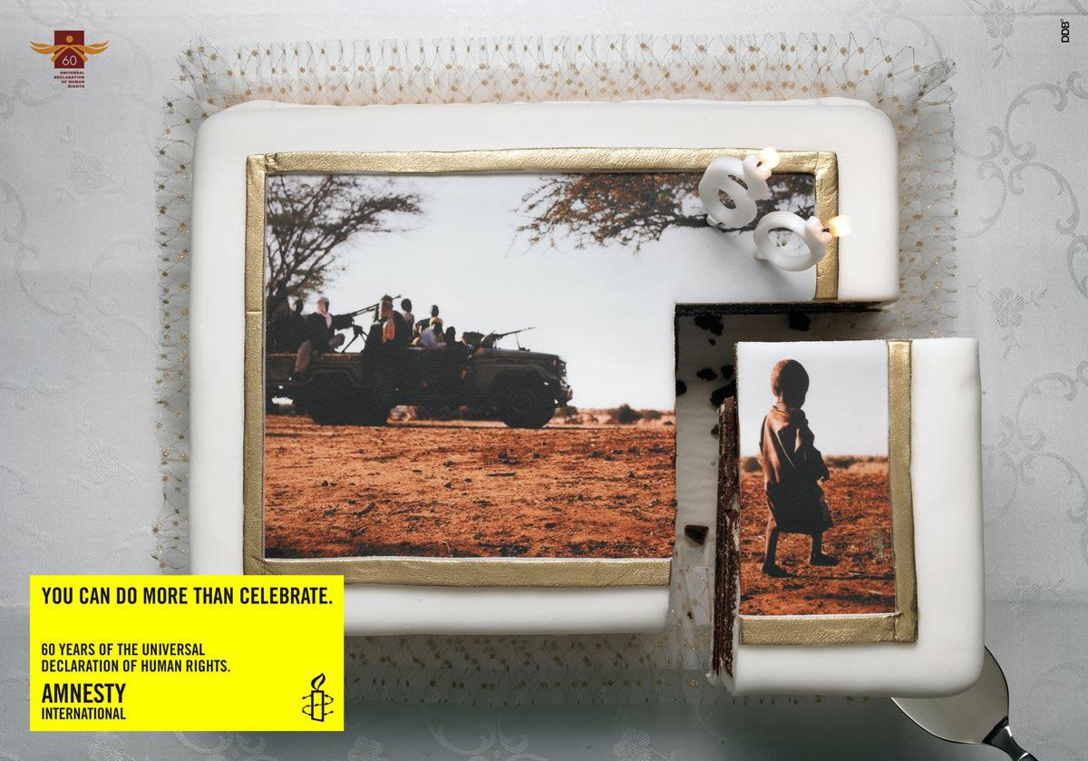 Amnesty International Print Ad -  Cake, 3