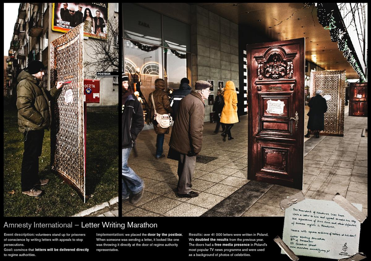 Amnesty International Ambient Ad -  Doors