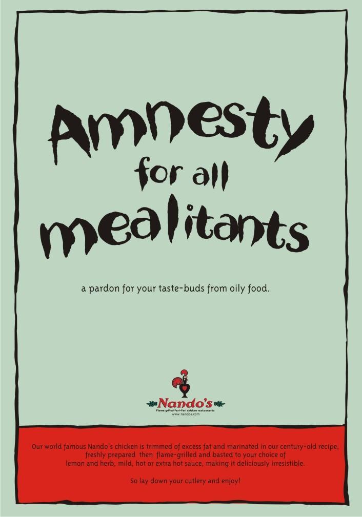 Nando's Print Ad -  Amnesty