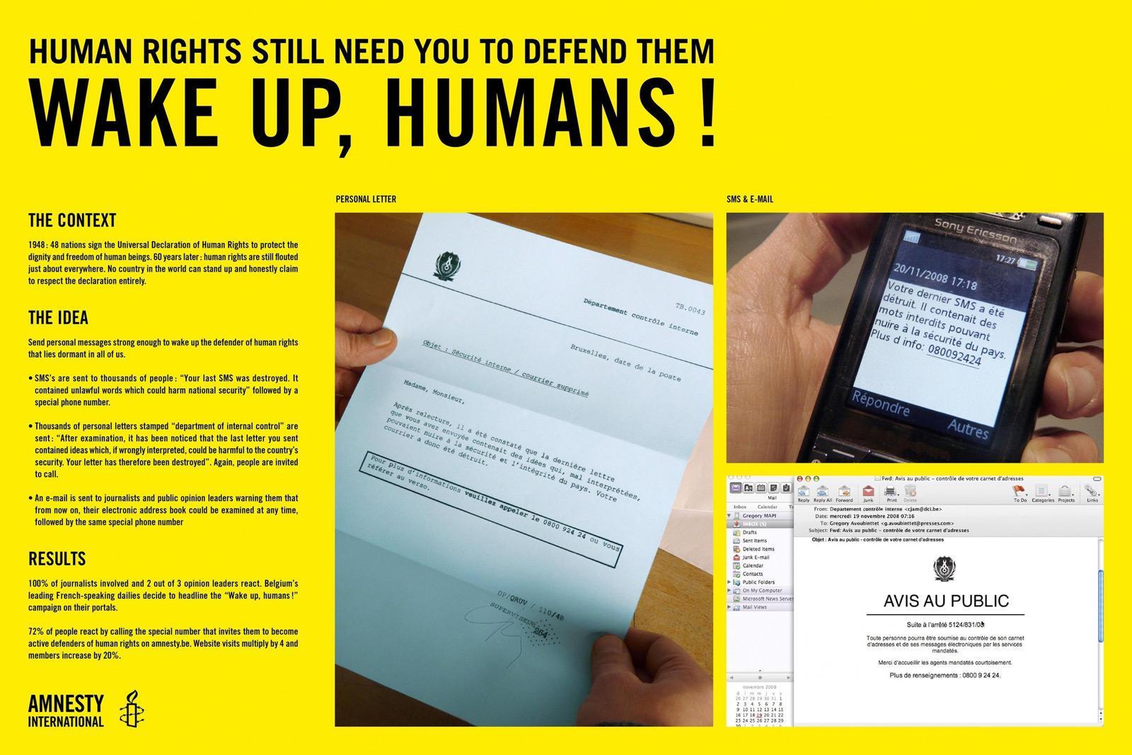 Amnesty International Direct Ad -  Wake Up Humans