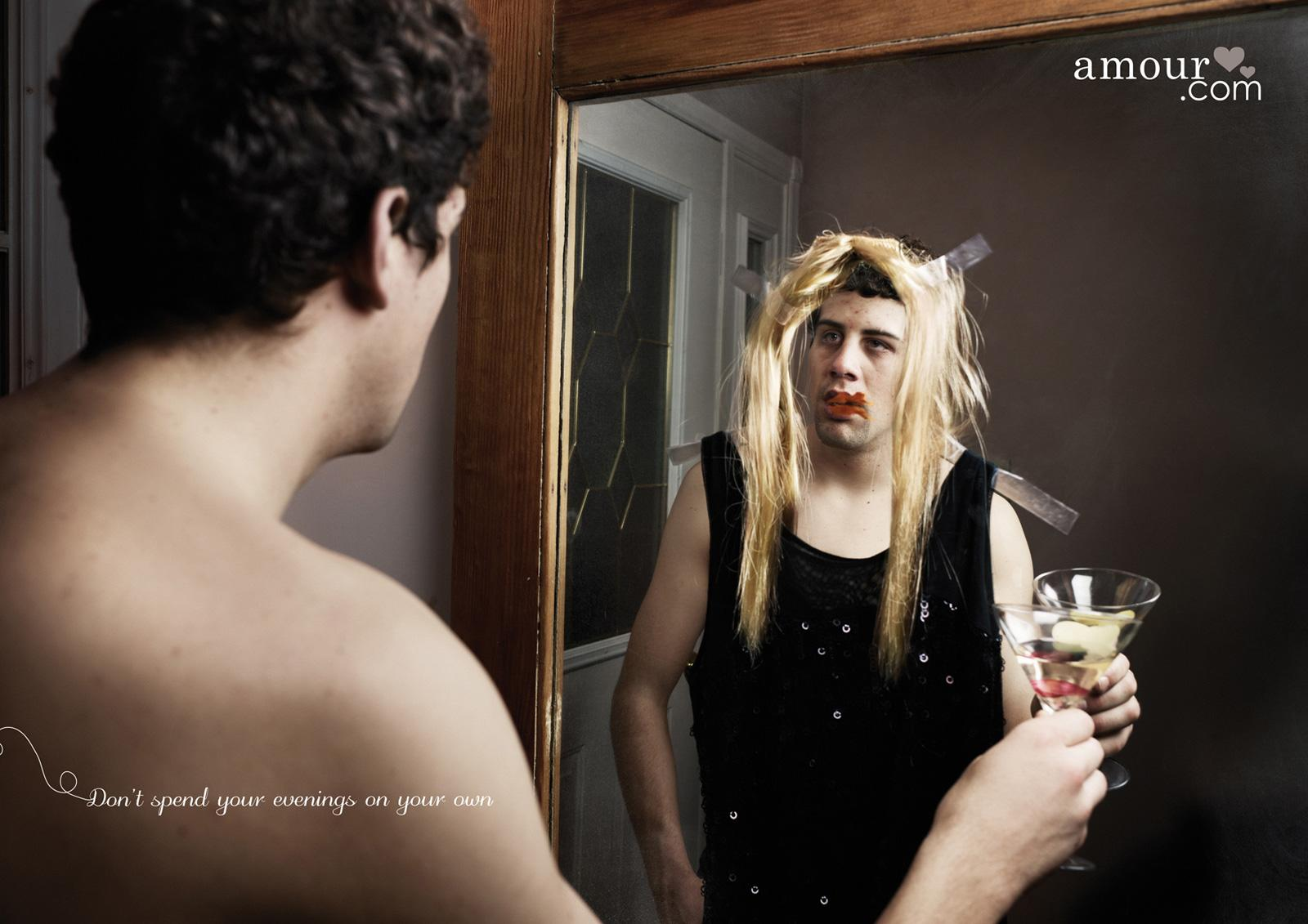 Amour Print Ad -  Mirror