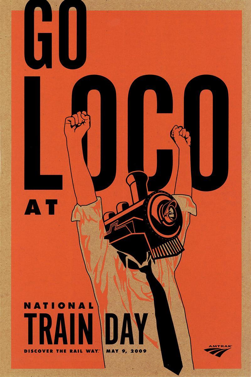 Amtrak Print Ad -  Go loco
