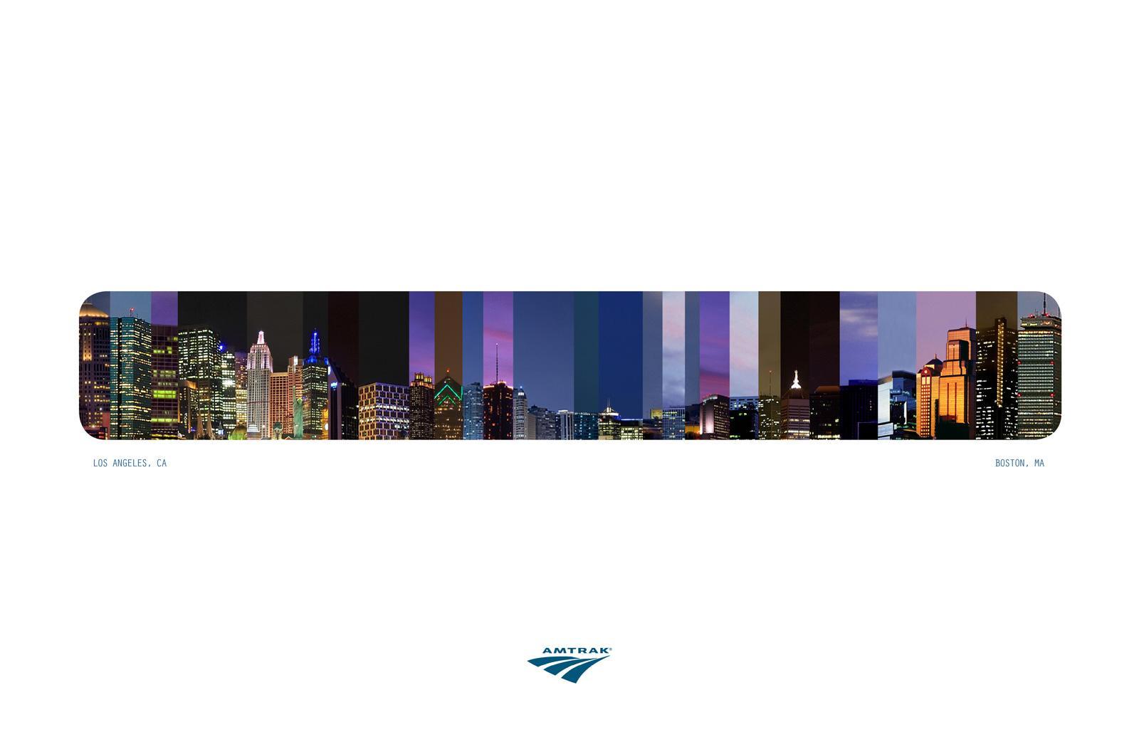 Amtrak Print Ad -  Cityscape