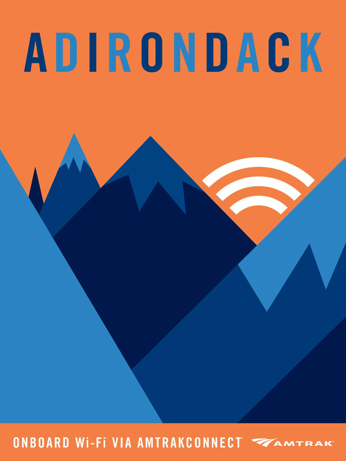 Amtrak Outdoor Ad -  AmtrakConnect, Adirondack