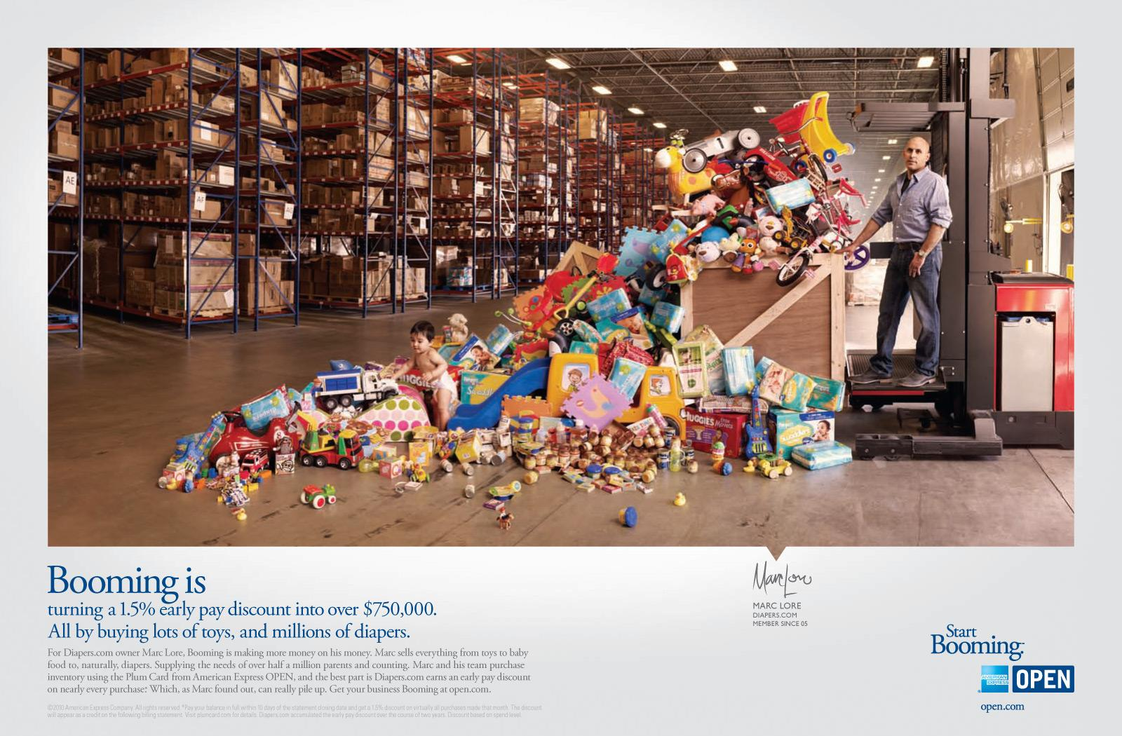 American Express Print Ad -  Start Booming, Marc Lore