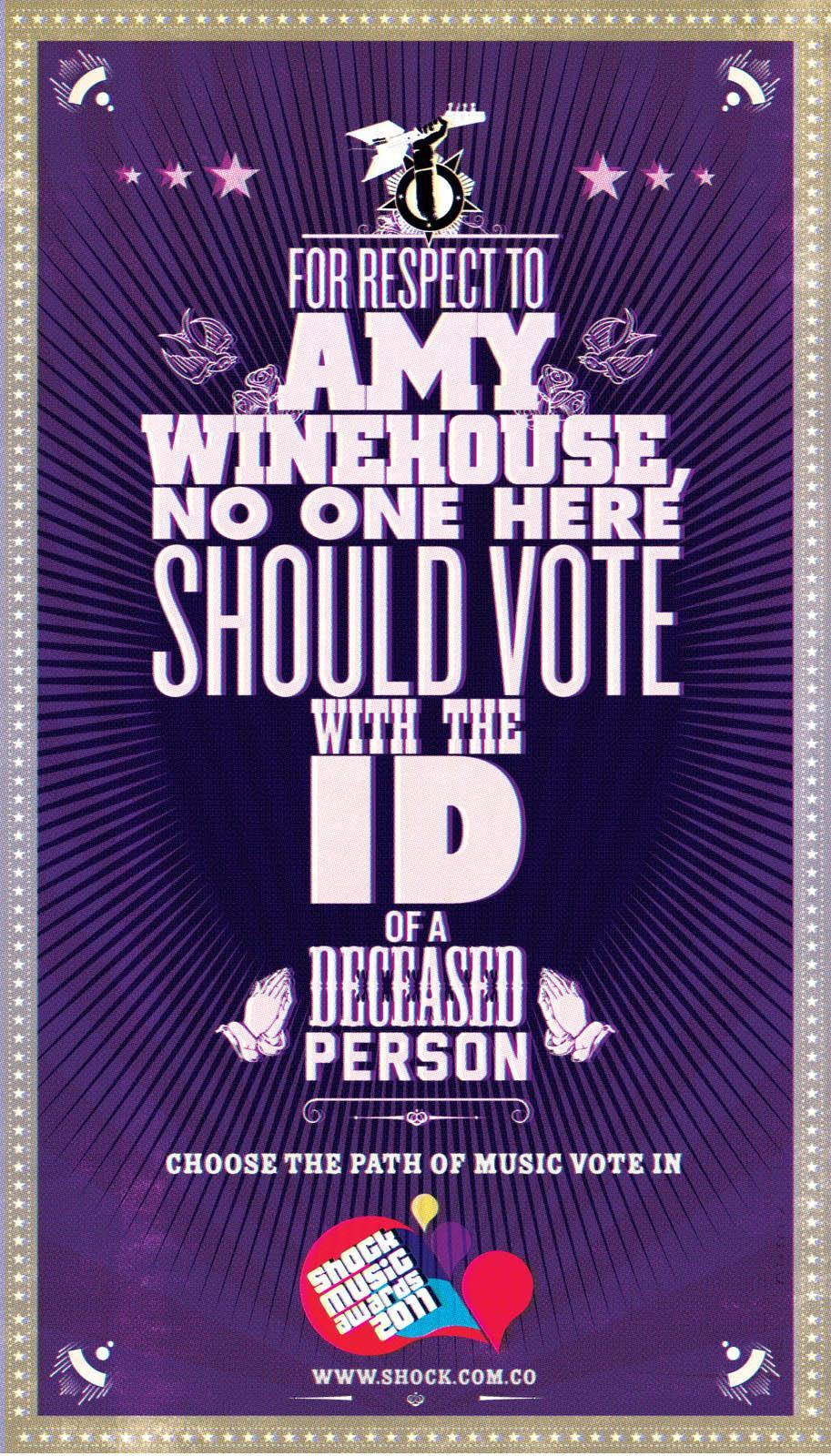 Shock Music Awards Print Ad -  Amy