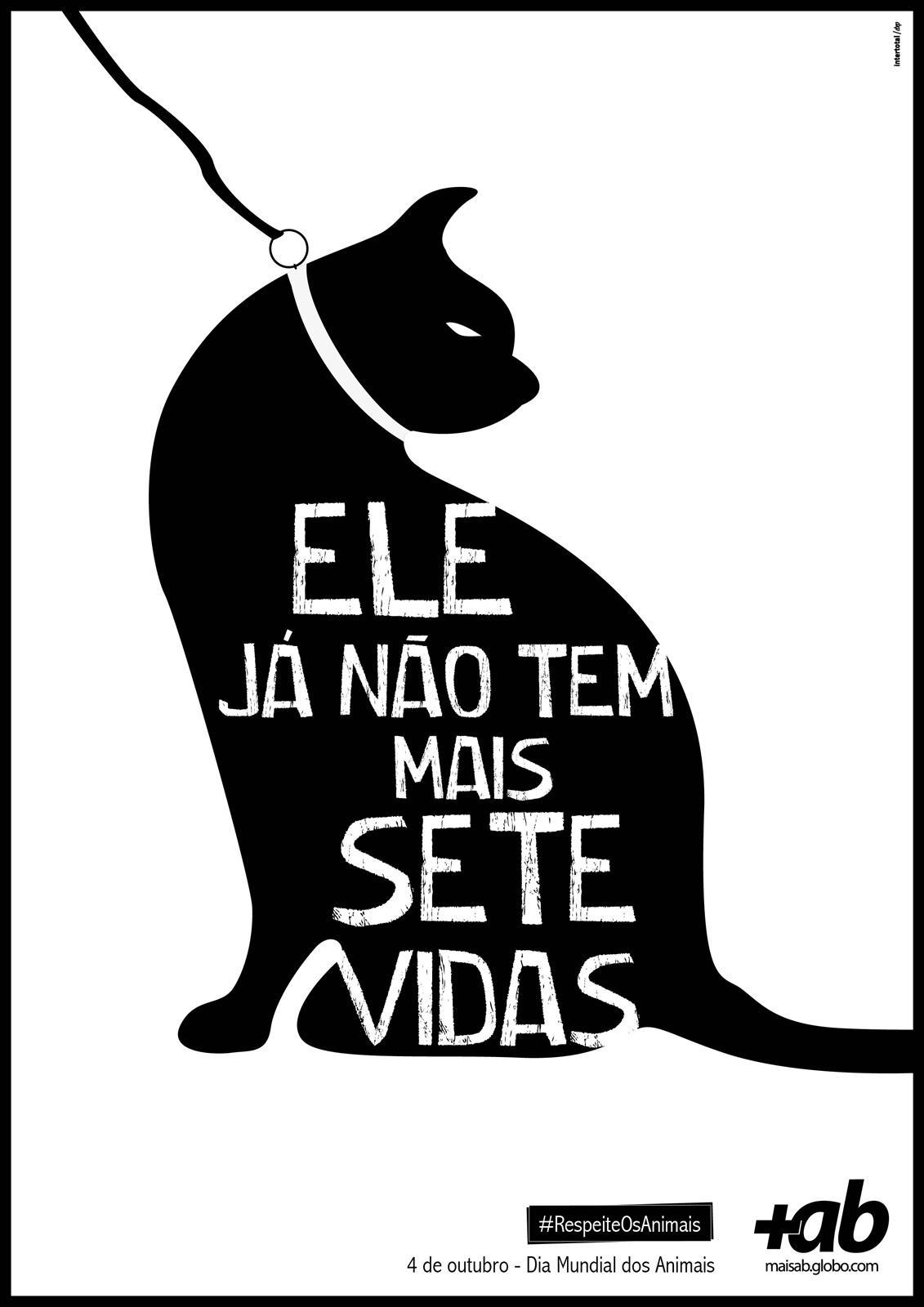 Portal MaisAB Print Ad -  World Day of Animals, Cat
