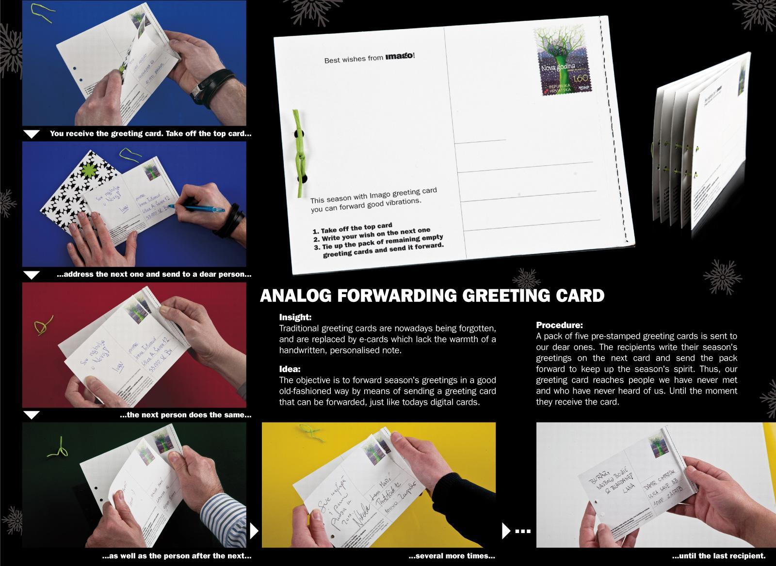 Imago Digital Ad -  Analog forwarding greeting card