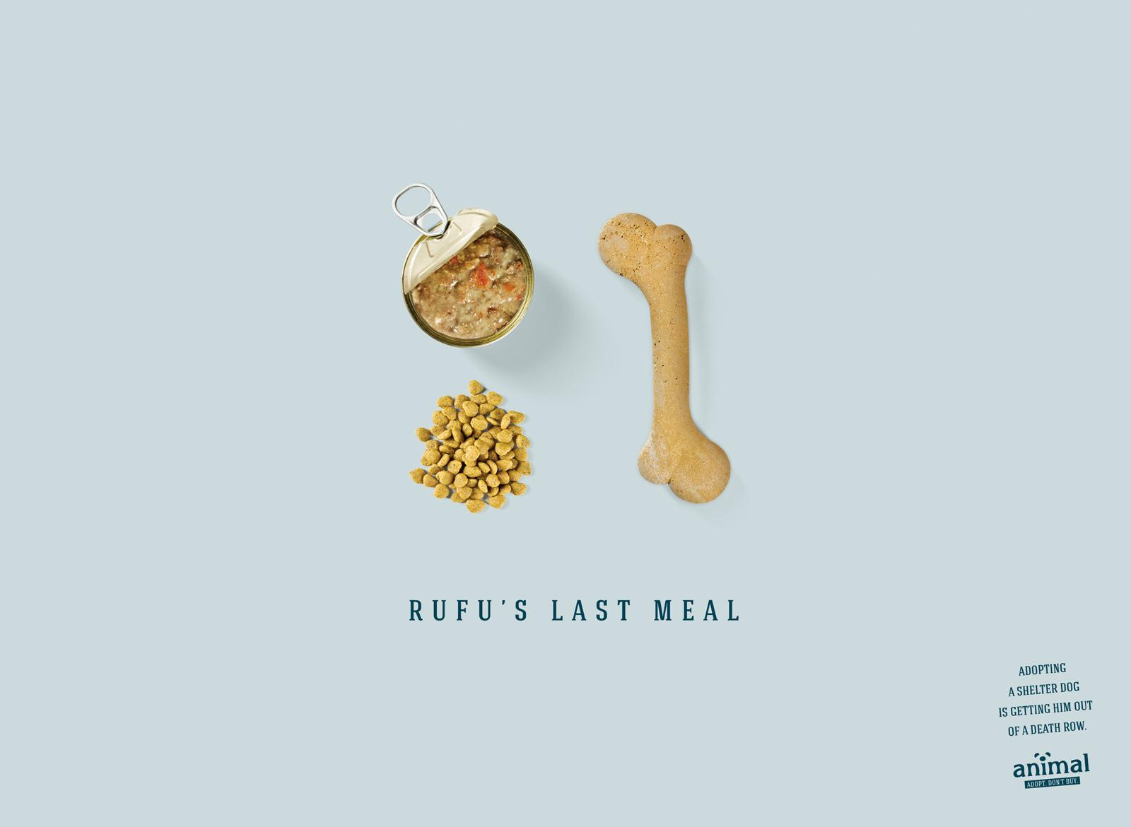 Animal Print Ad -  Rufu's Last Meal