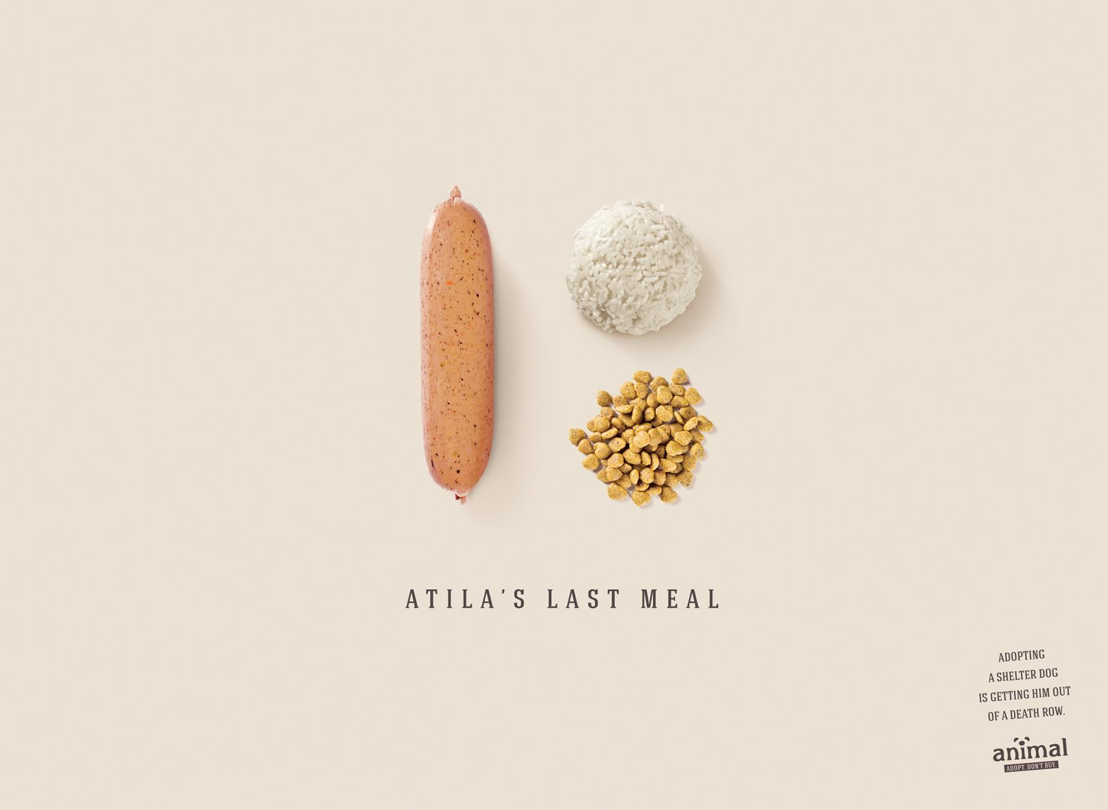 Animal Print Ad -  Atila's Last Meal
