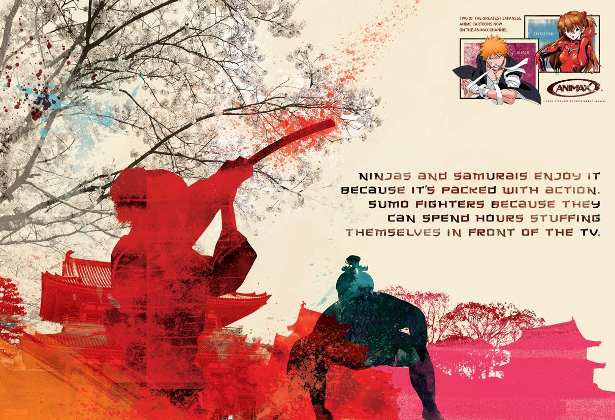 Animax Print Ad -  Ninjas