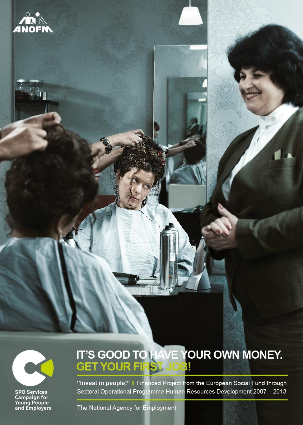 The National Agency for Employment Print Ad -  Hairdresser