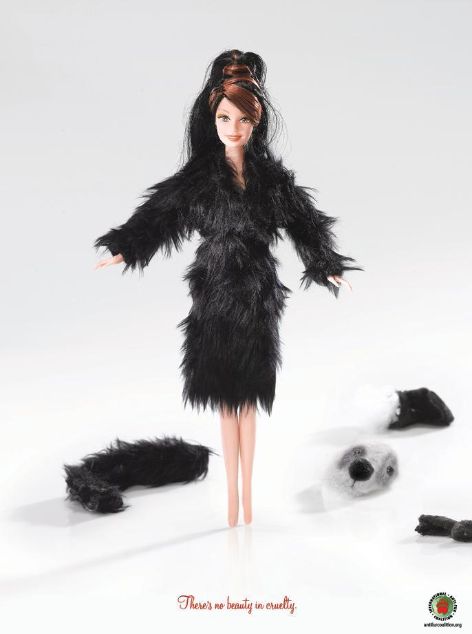 International Anti-Fur Coalition Print Ad -  Sharon