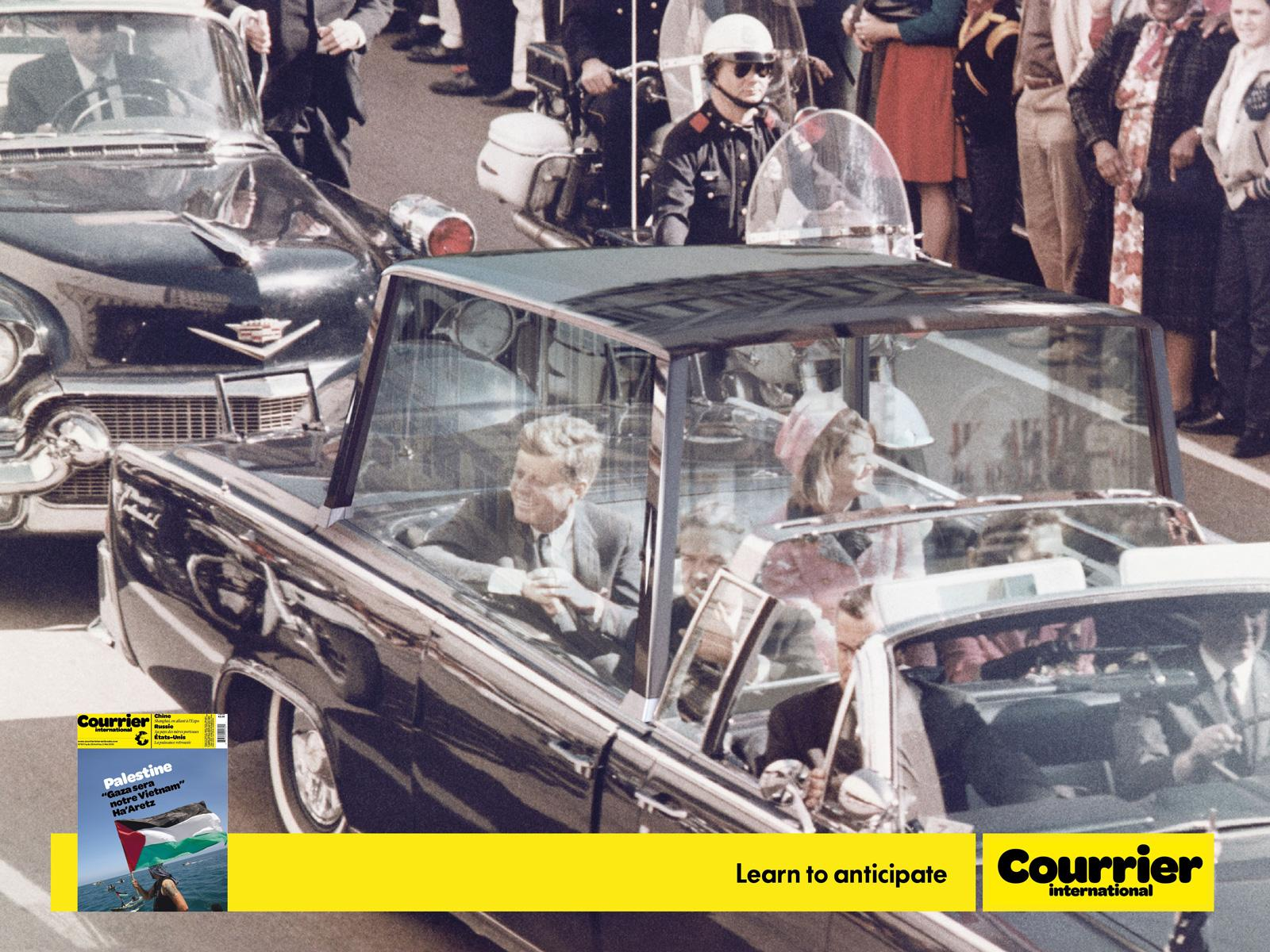 Courrier Print Ad -  Kennedy