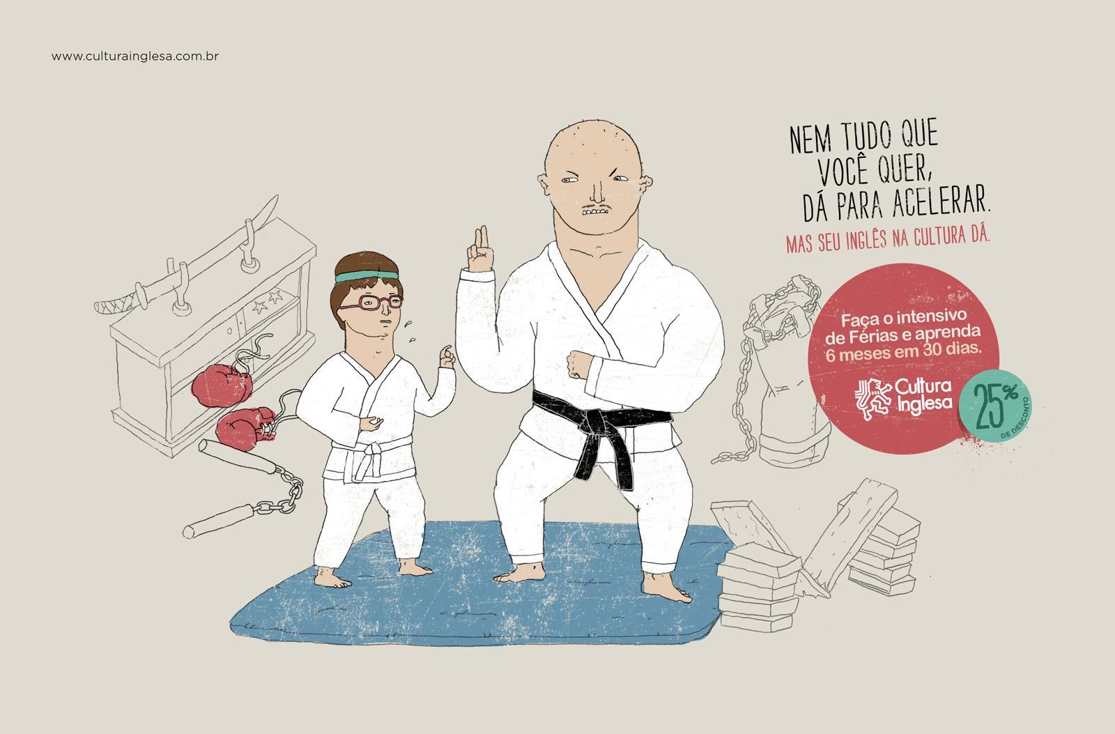 Cultura Inglesa Print Ad -  Intensive English Course, Judo