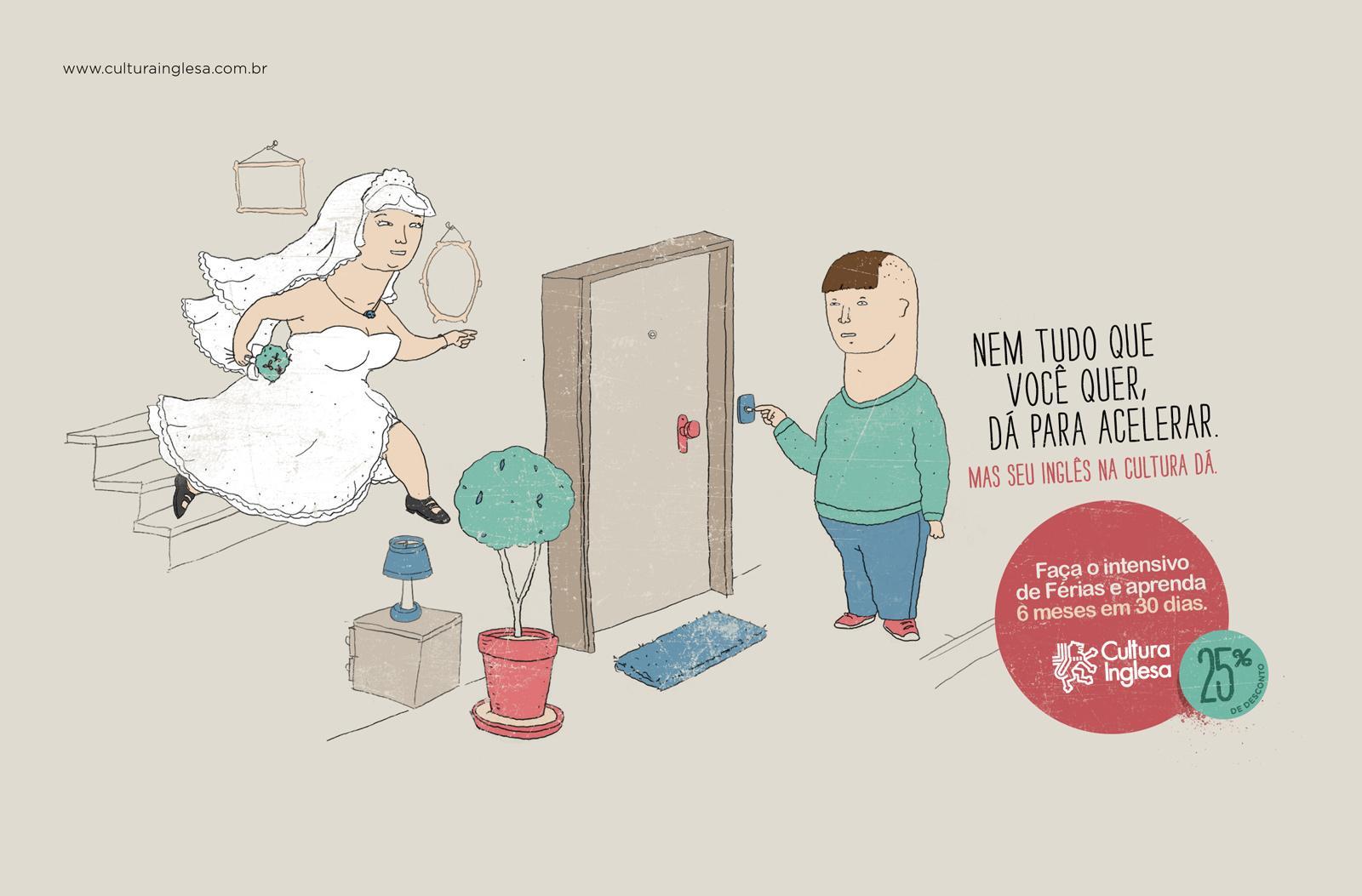 Cultura Inglesa Print Ad -  Intensive English Course, Bride