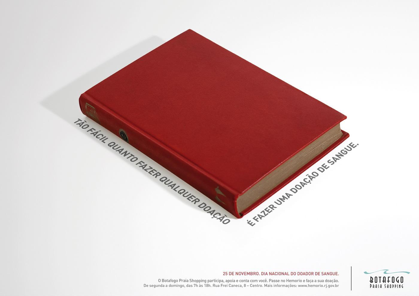 Botafogo Praia Shopping Print Ad -  Donate Blood, Book