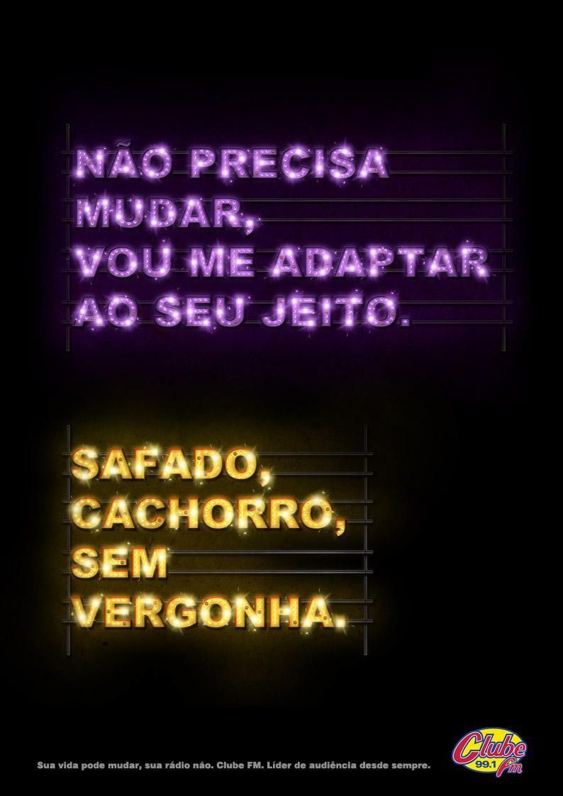 Rádio Clube Print Ad -  Popular music, 3