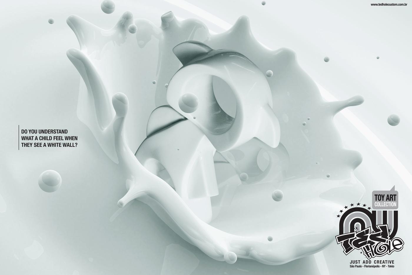 Ted Hole Custom Print Ad -  White wall