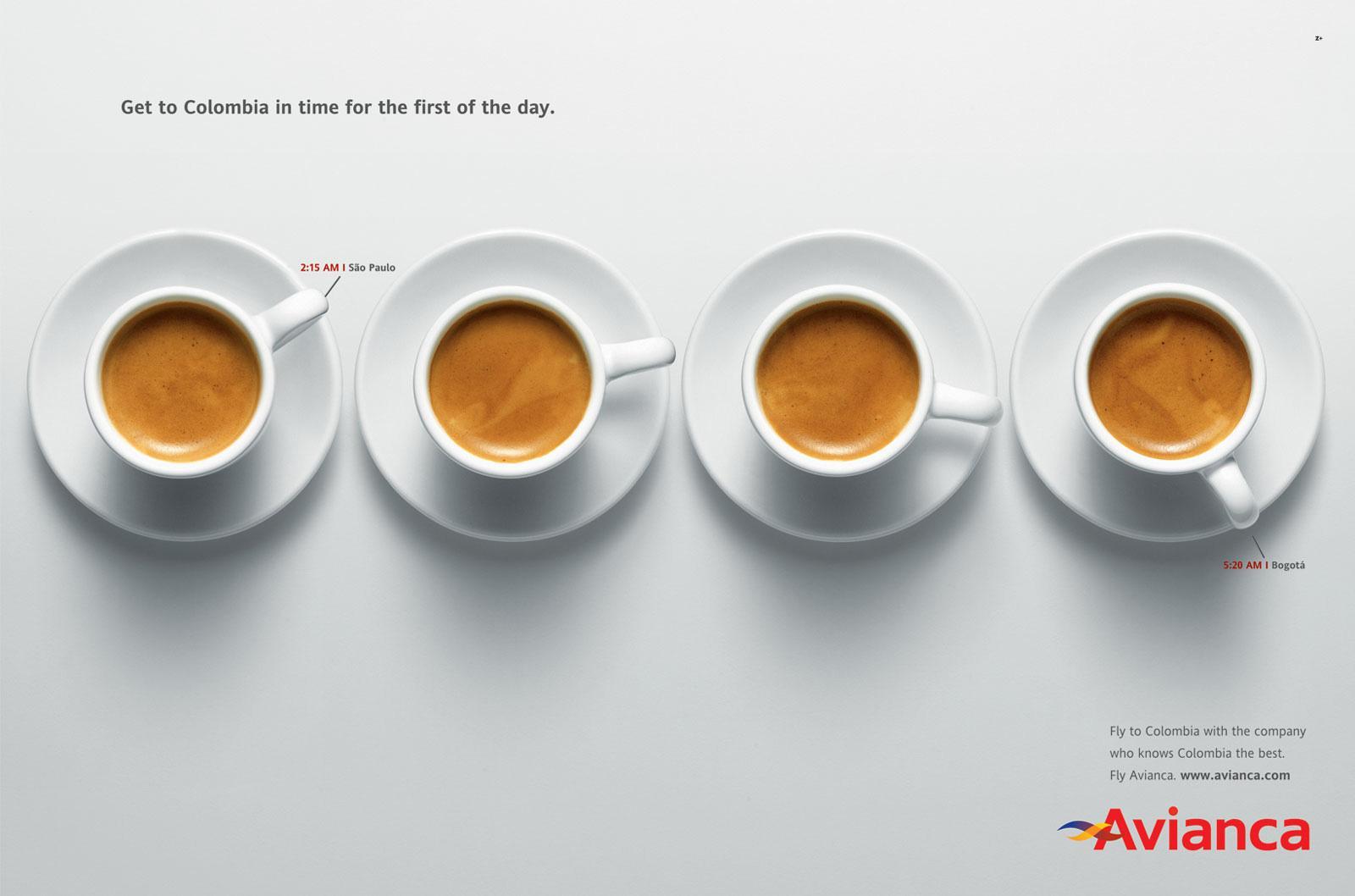 Avianca Print Ad -  Coffee, 2