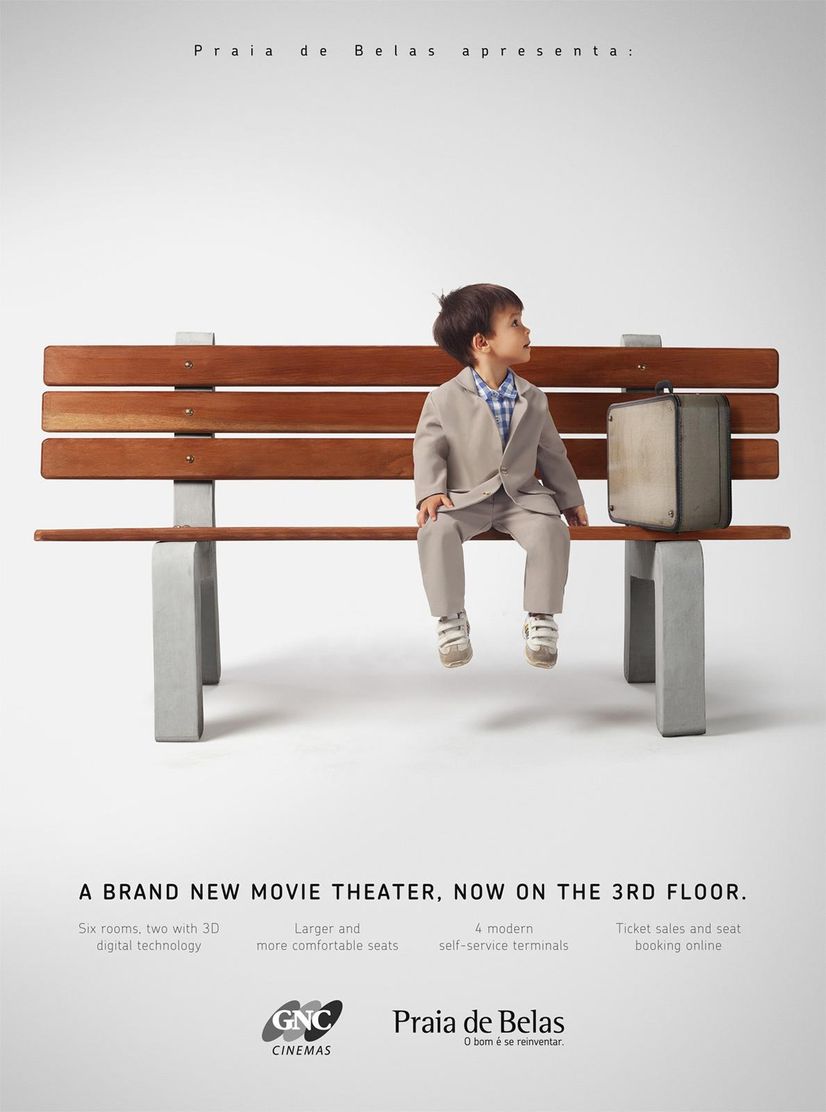 Praia de Belas Print Ad -  A brand new movie theater. 4