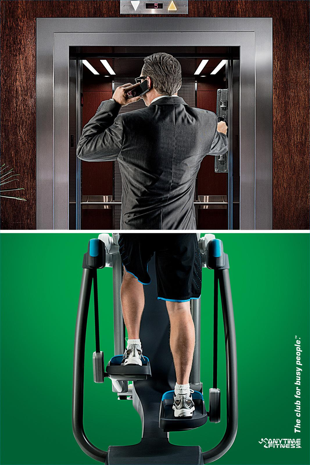 Anytime Fitness Print Ad -  Elevator