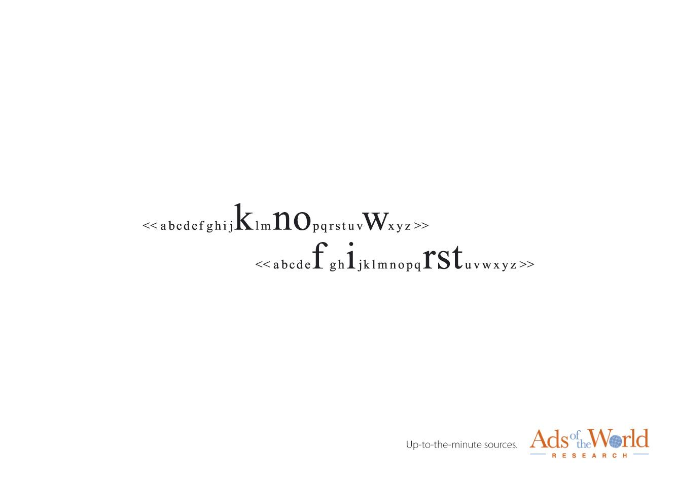 Ads of the World Print Ad -  Search line, 2
