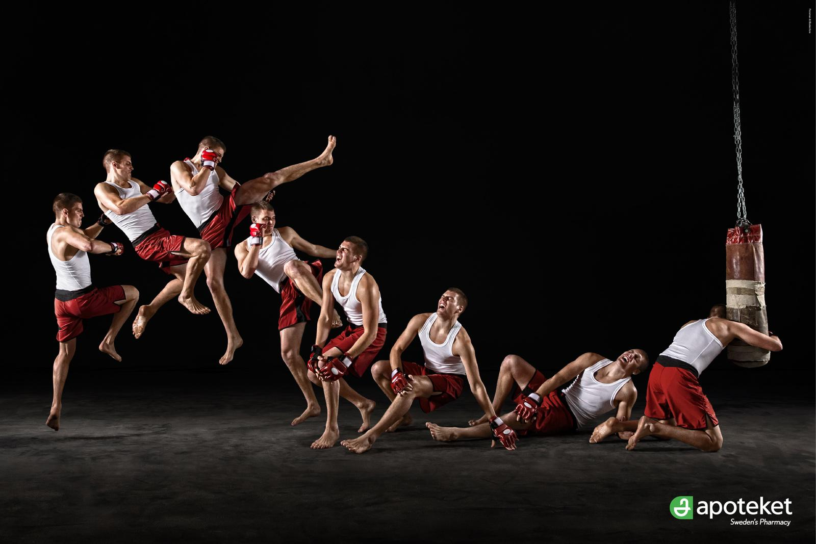 Apoteket Print Ad -  Injured Athletes, Kickboxing