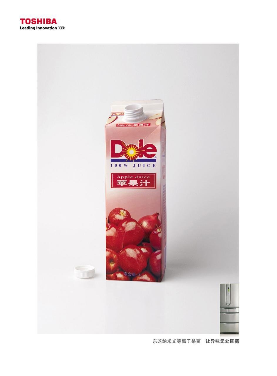Toshiba Print Ad -  Apple juice