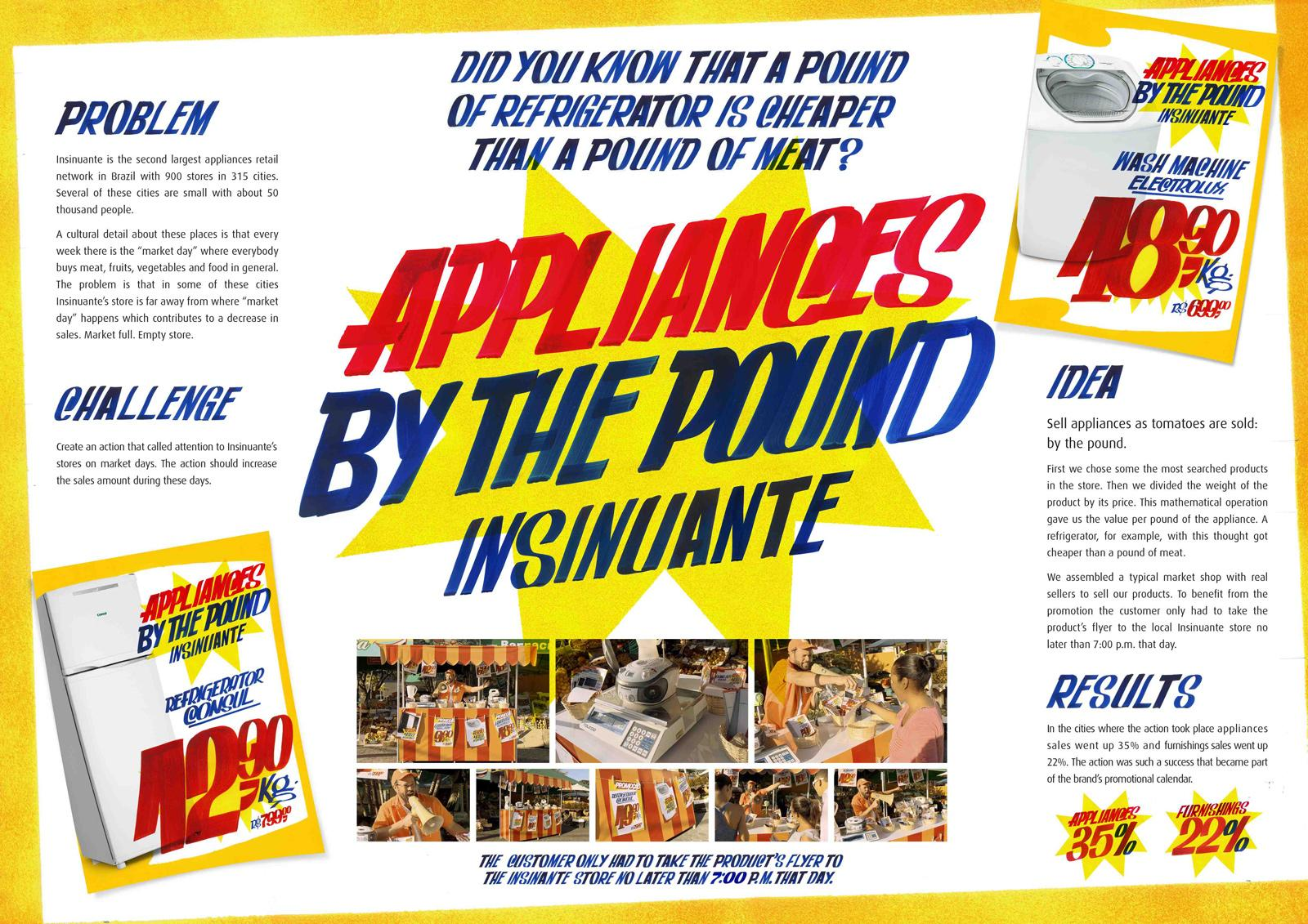 Insinuante Outdoor Ad -  Appliances by the pound