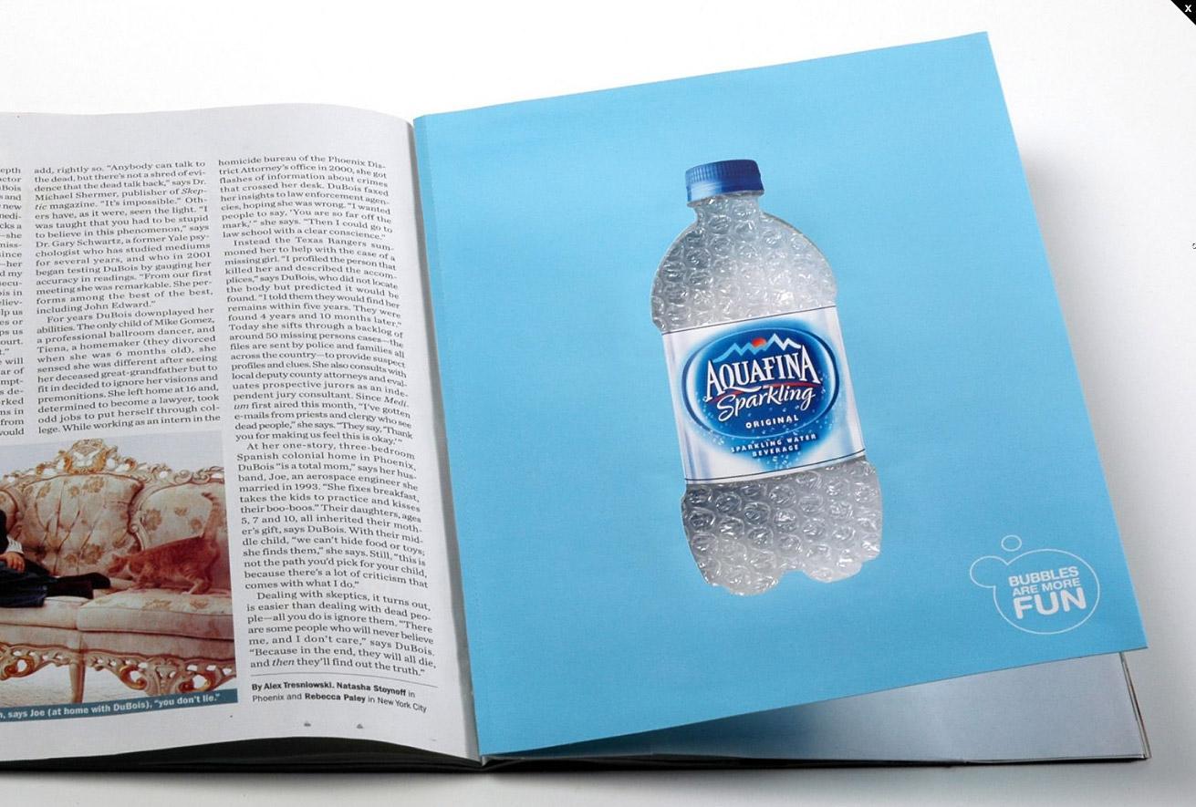 Aquafina Print Ad -  Bubbles
