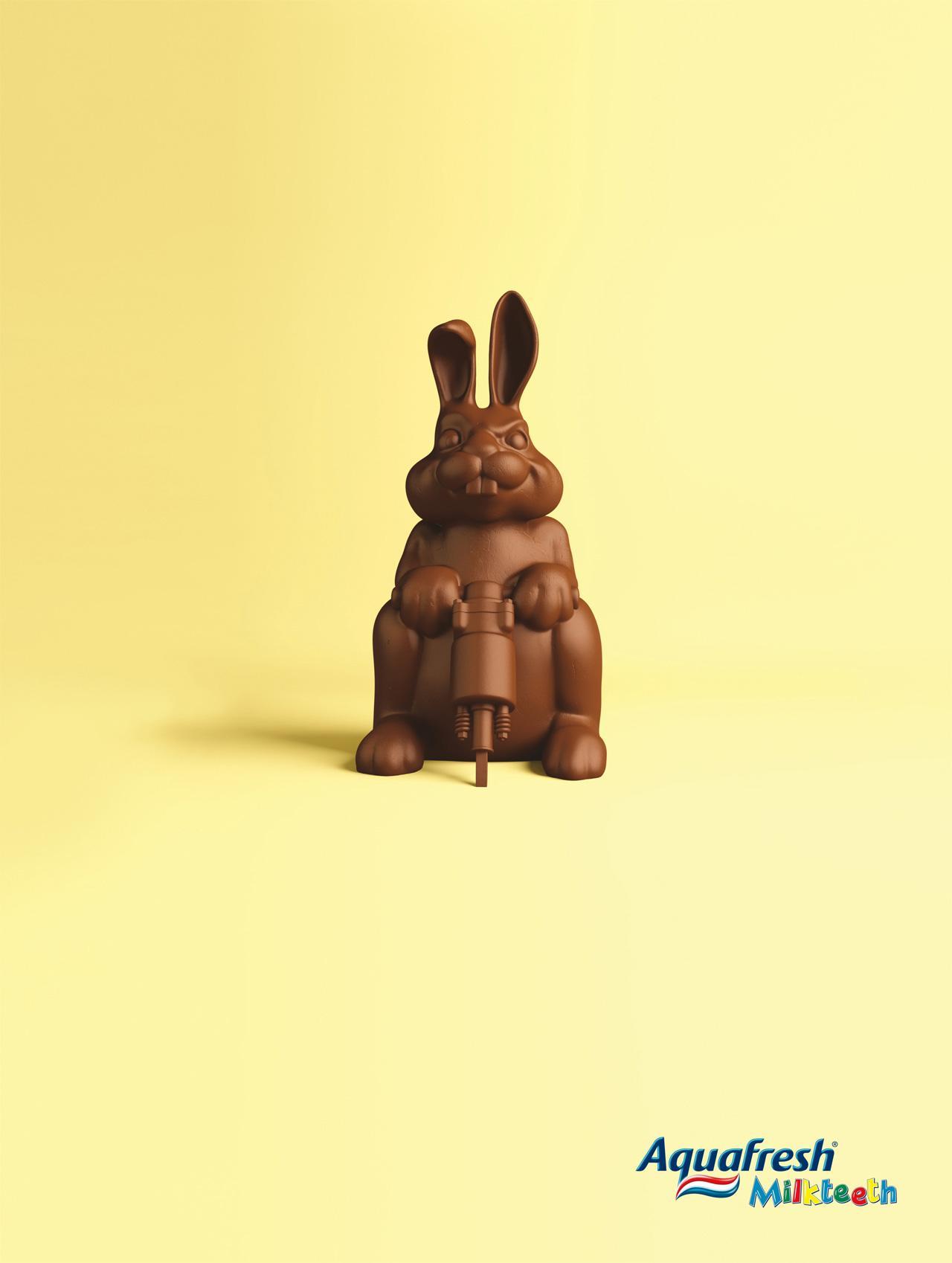 Aquafresh Print Ad -  Bunny