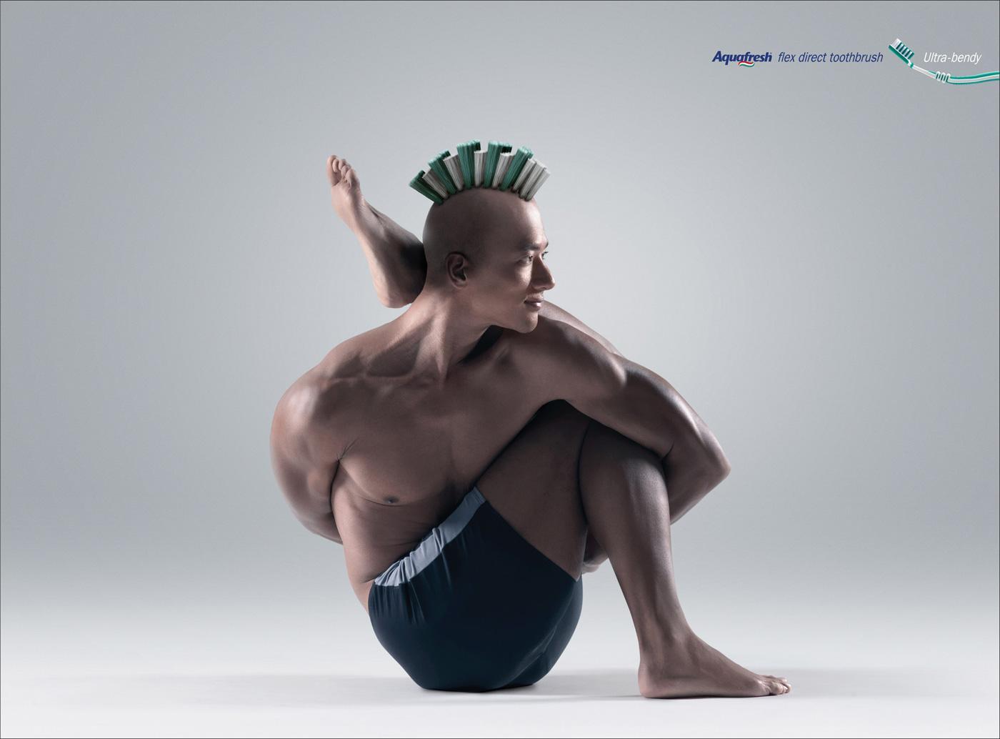 Aquafresh Print Ad -  Ultra-bendy, 3