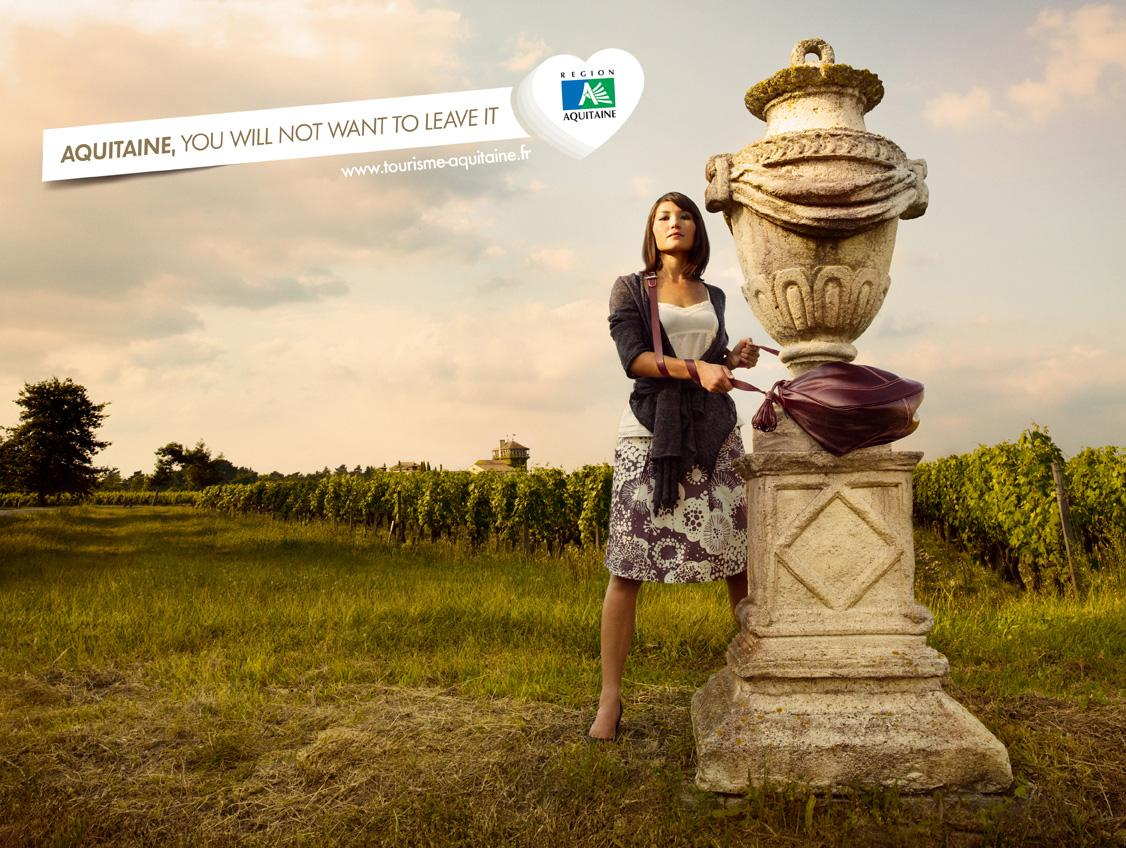 Aquitaine Print Ad -  You will not want to leave it, 1