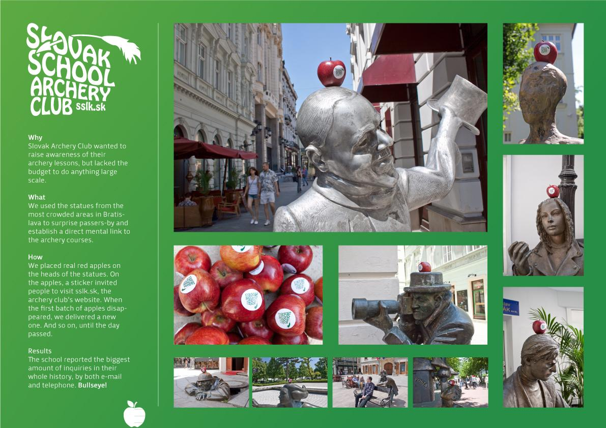 Slovak School Archery Club Ambient Ad -  Statues