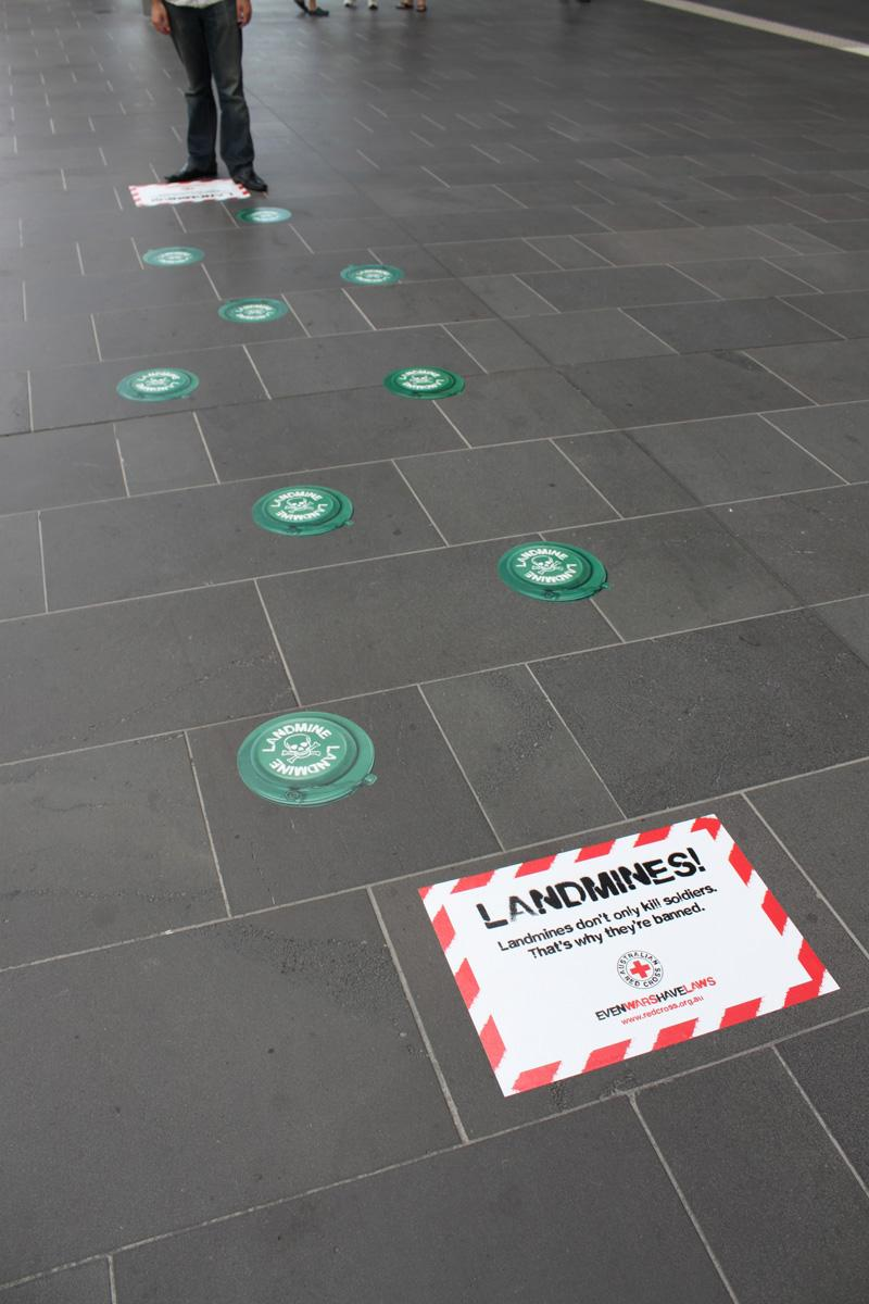 Red Cross Ambient Ad -  Landmines