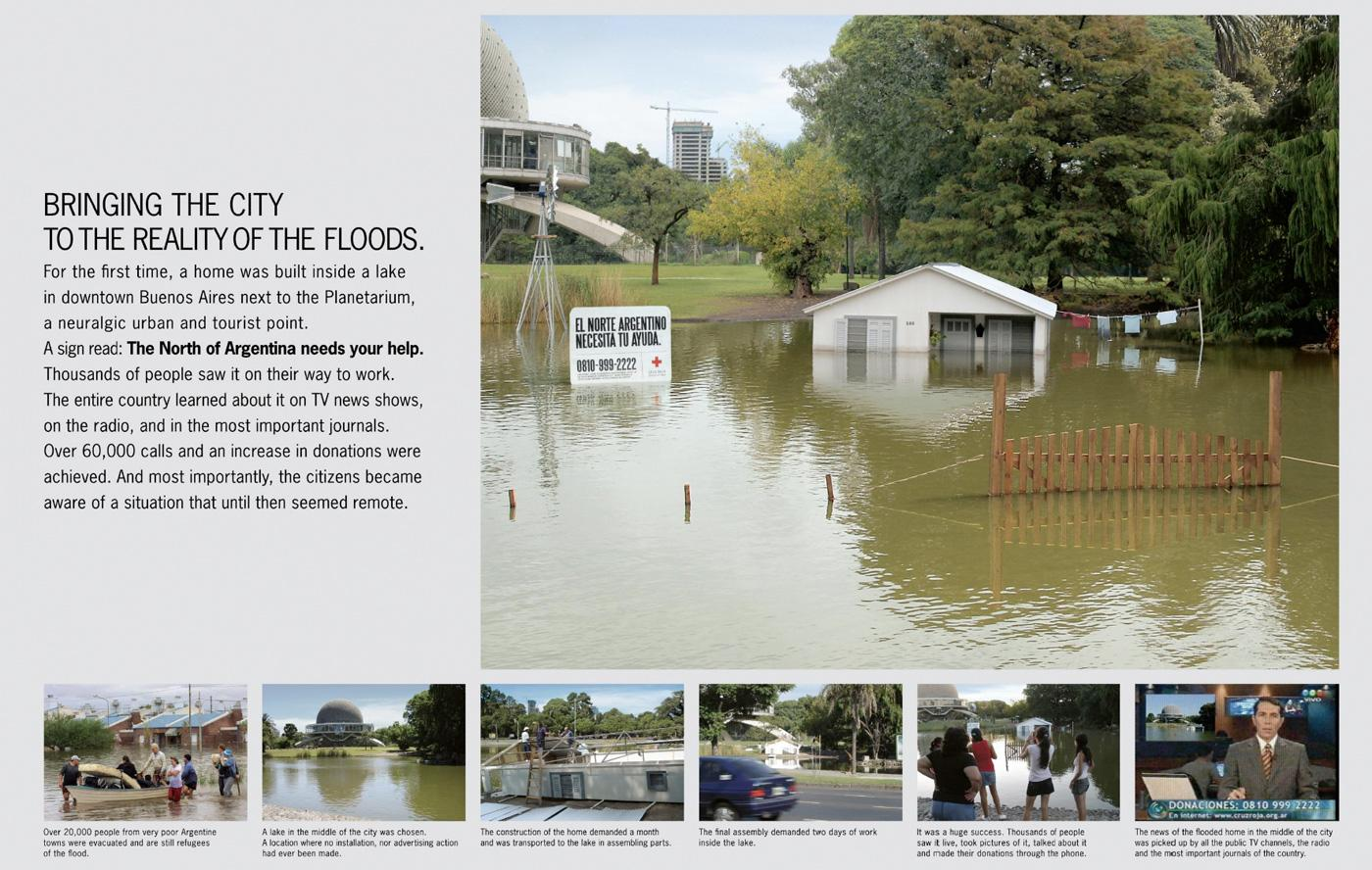 Red Cross Ambient Ad -  Flood