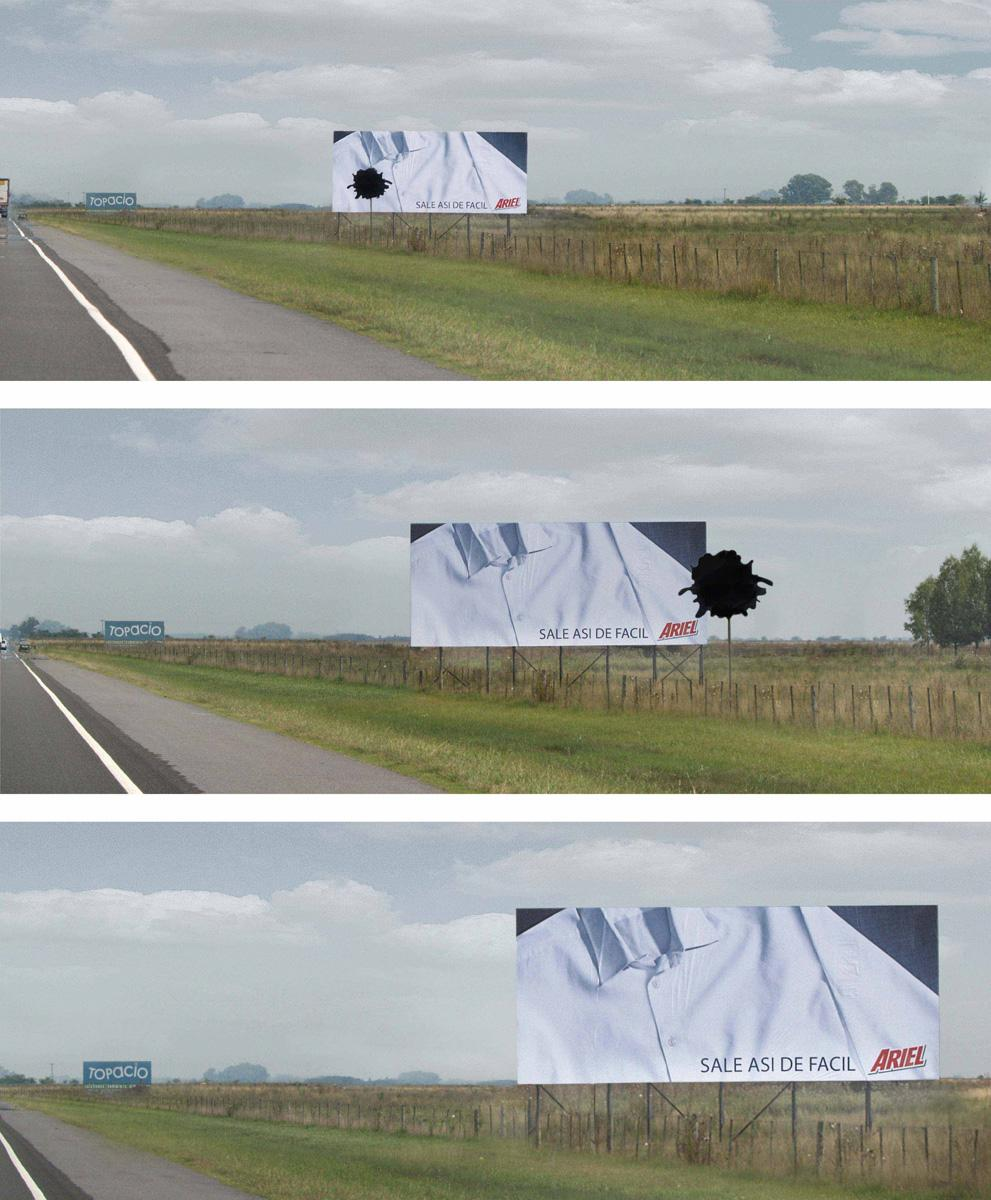Ariel Ambient Ad -  Route