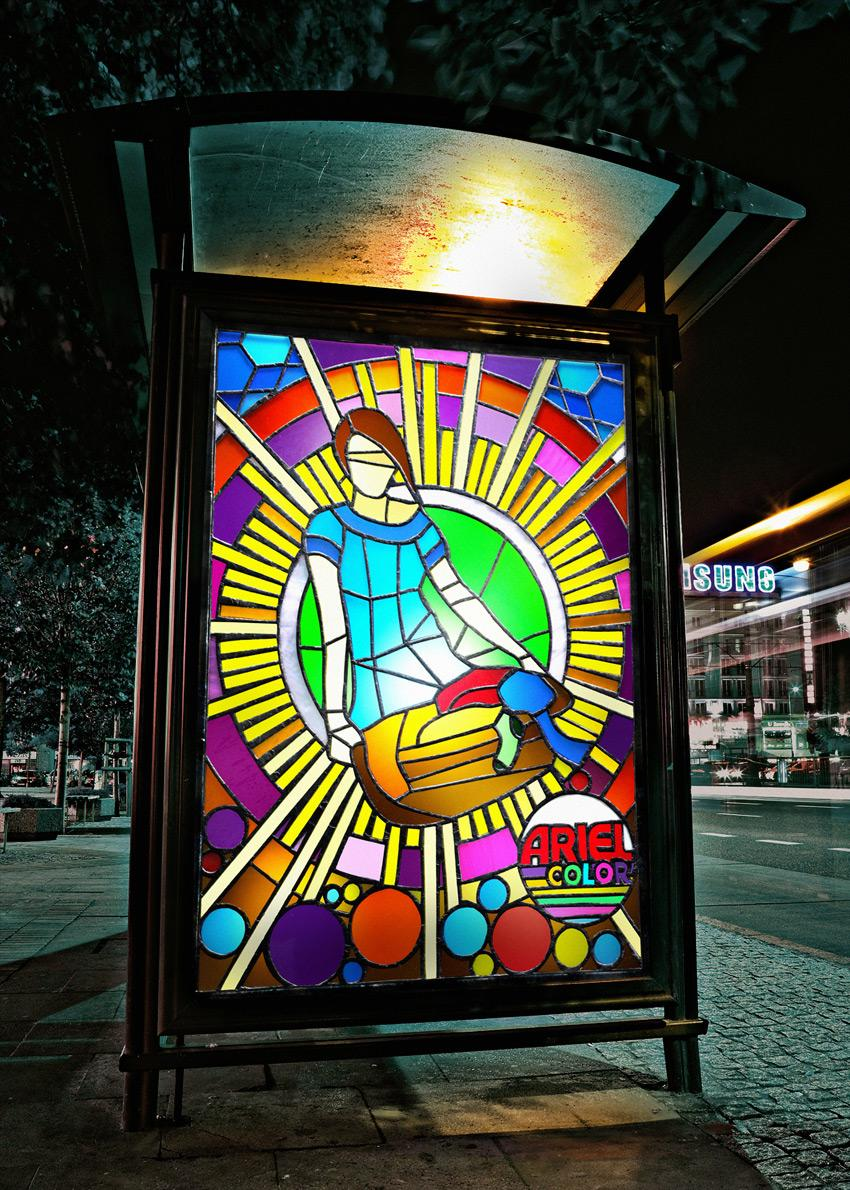Ariel Ambient Ad -  Stained glass windows, 1