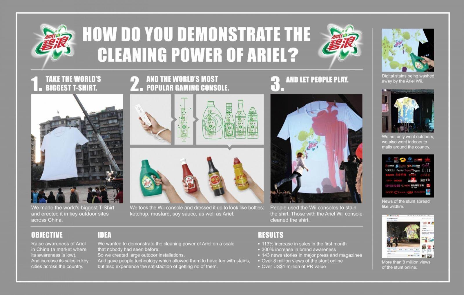 Ariel Ambient Ad -  Big Stain