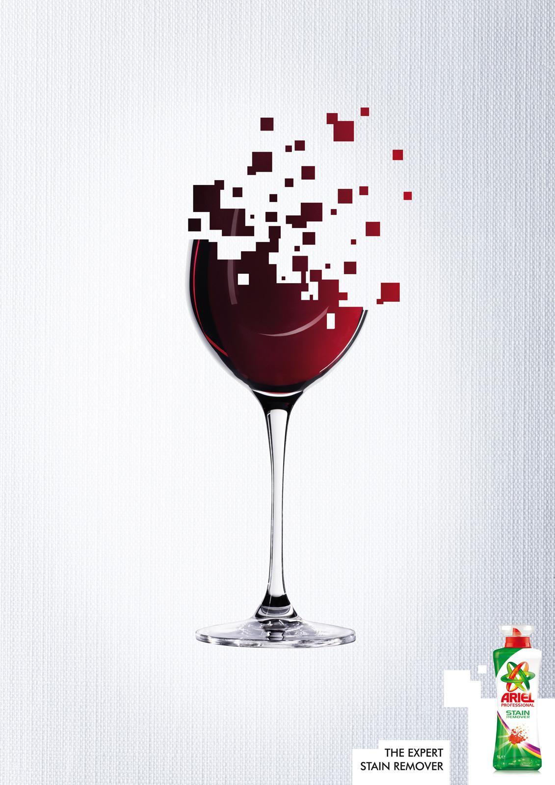 Ariel Print Ad -  Wine