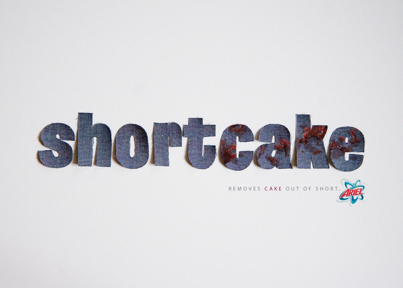 Ariel Print Ad -  Shortcake