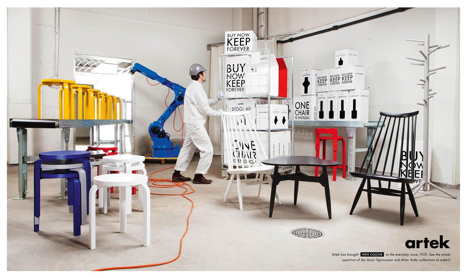 Artek Print Ad -  Painting room