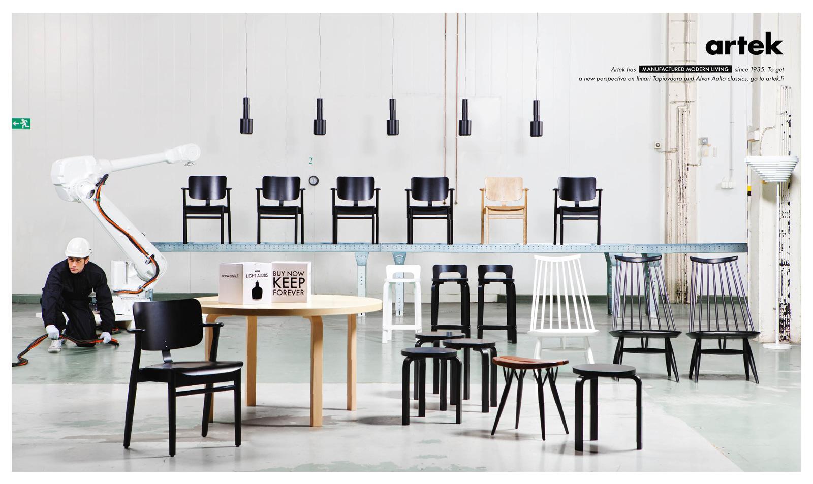 Artek Print Ad -  White robbot