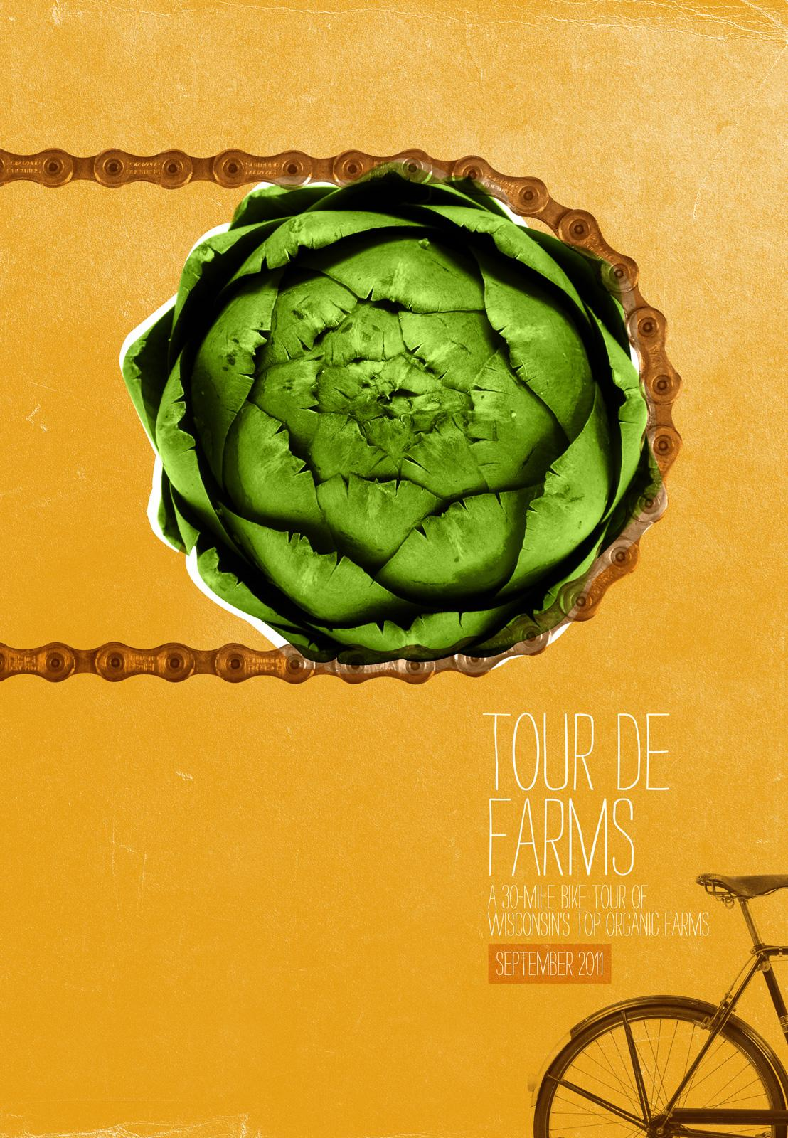 Braise Local Food Print Ad -  Tour de Farms, Artichoke chain