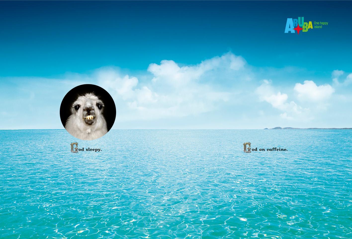Aruba Print Ad -  God, 2