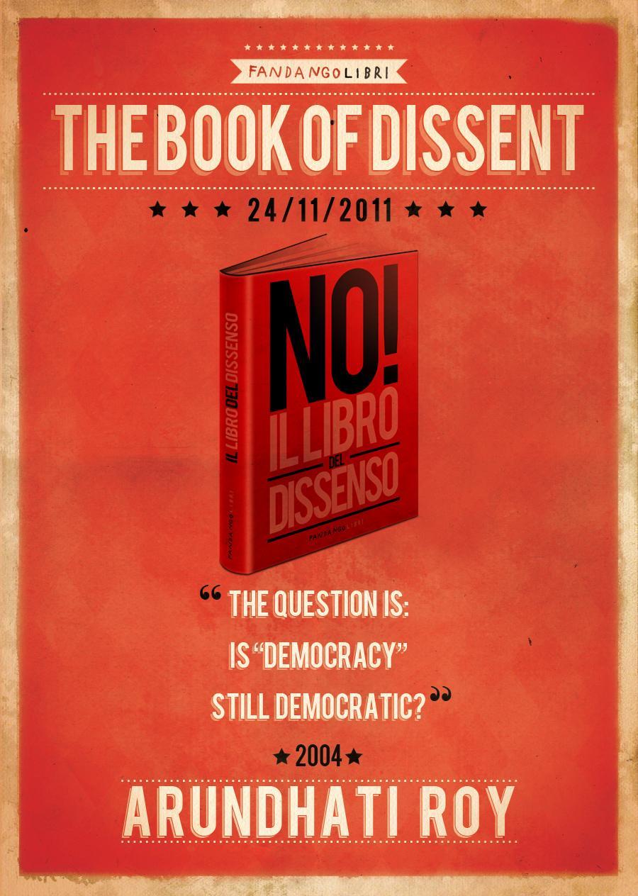 Fandango Libri Print Ad -  The book of dissent, Arundhati Roy